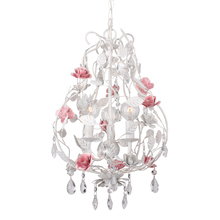 Crystorama 4853-WW - Crystorama Lola 3 Light Wet White Mini Chandelier