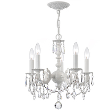 Crystorama 5515-WW-CL-MWP - Crystorama Paris Market 5 Light White Mini Chandelier
