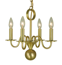 Framburg 2244 PS - 4-Light Polished Silver Jamestown Mini Chandelier