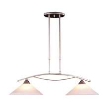 ELK Lighting 6501/2 - Elysburg 2 Light Island In Satin Nickel And Whit